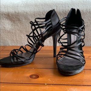 New Black Strappy Heels
